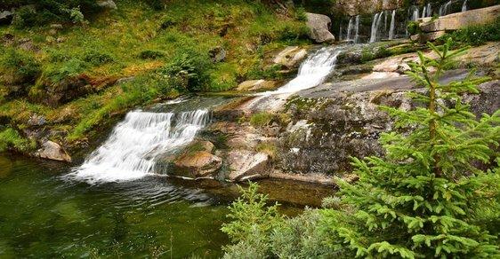 Tip na výlet: Zimní krása vodopádů v krkonošském údolí Bílého Labe