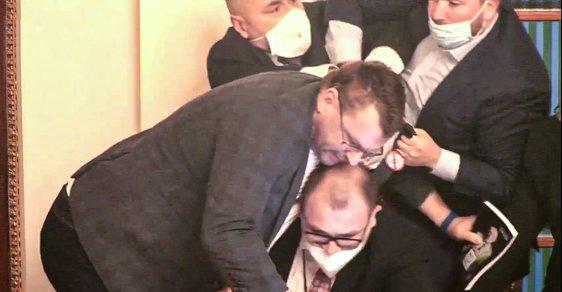 Rvačka ve Sněmovně: Lubomír Volný se popral s předsedajícím Hanzelem