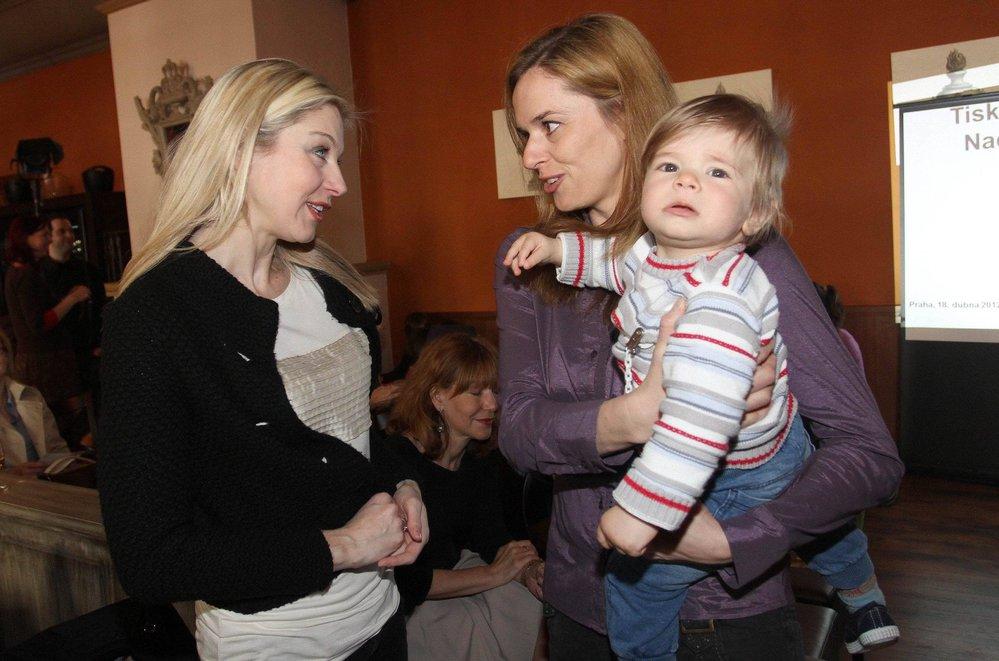 Světlana Witowská se synem