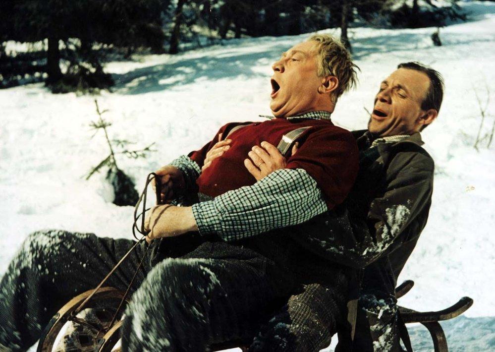 Ve filmu Anděl na horách si Kemr užil hodně legrace s Jaroslavem Marvanem.