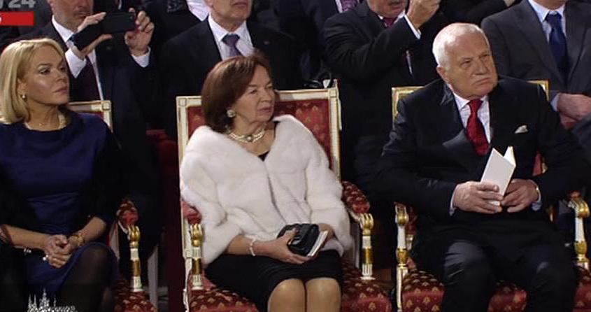 Inaugurace 2013: Hostem inaugurace byla i vdova po prvním prezidentovi České republiky Václavu Havlovi Dagmar.