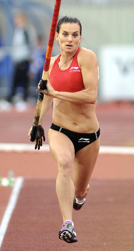 Tyčkařská rekordmanka Jelena Isinbajeová na Zlaté tretře v Ostravě