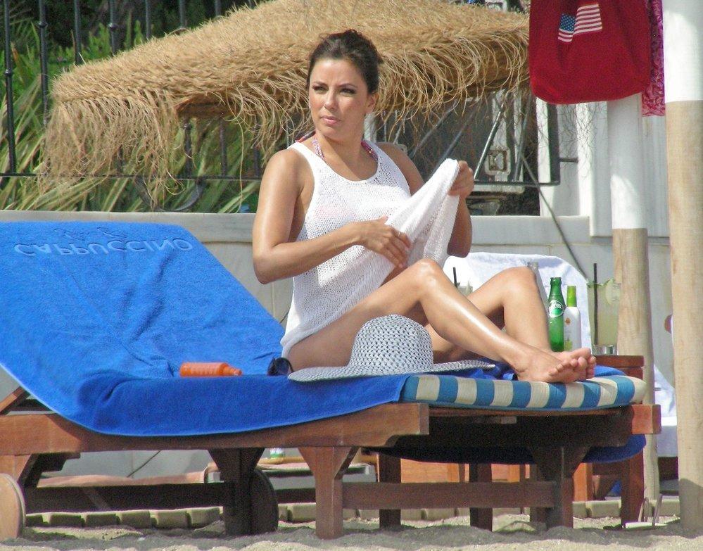 Eva Longoria je na dovolené ve španělské Marbelle.