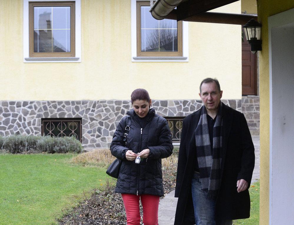 Šťastné shledání. Kateřina Pancová a Petr Kott jsou zase spolu. Po soudu v roce 2013.