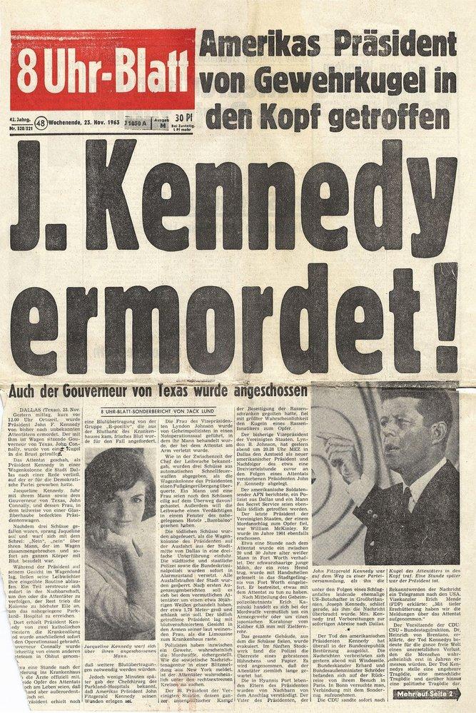 Takto o smrti prezidenta informoval německý deník Uhr-Blatt.