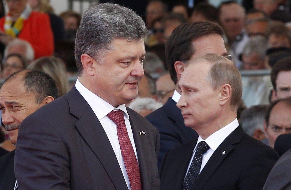 Od Porošenka se očekávalo, že urovná vztahy s Ruskem, zejména s prezidentem Vladimirem Putinem.
