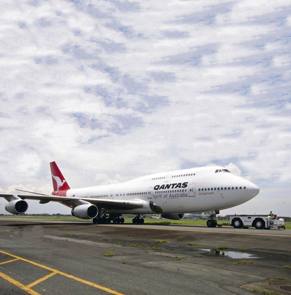 Letadlo Boeing 747 australské společnosti Quantas