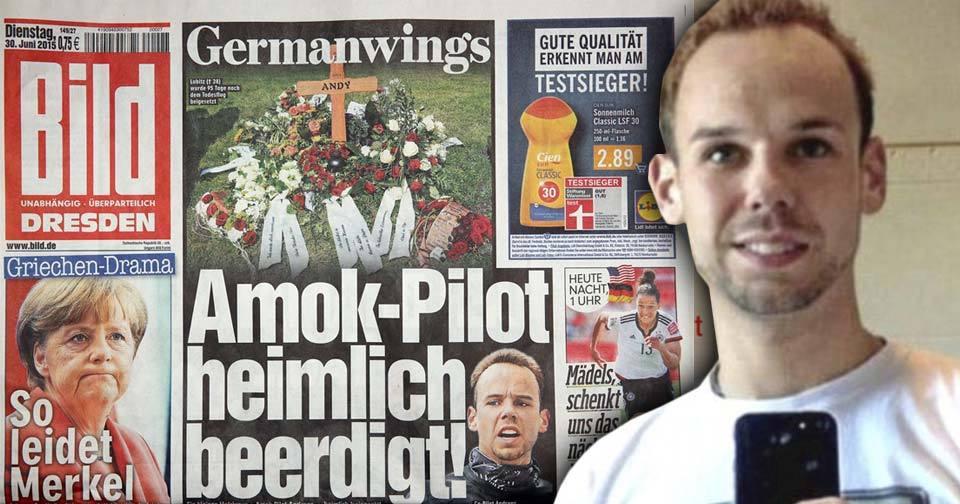 Kopilot Germanwings Andreas Lubitz byl tajně pohřben ve svém rodném městě.