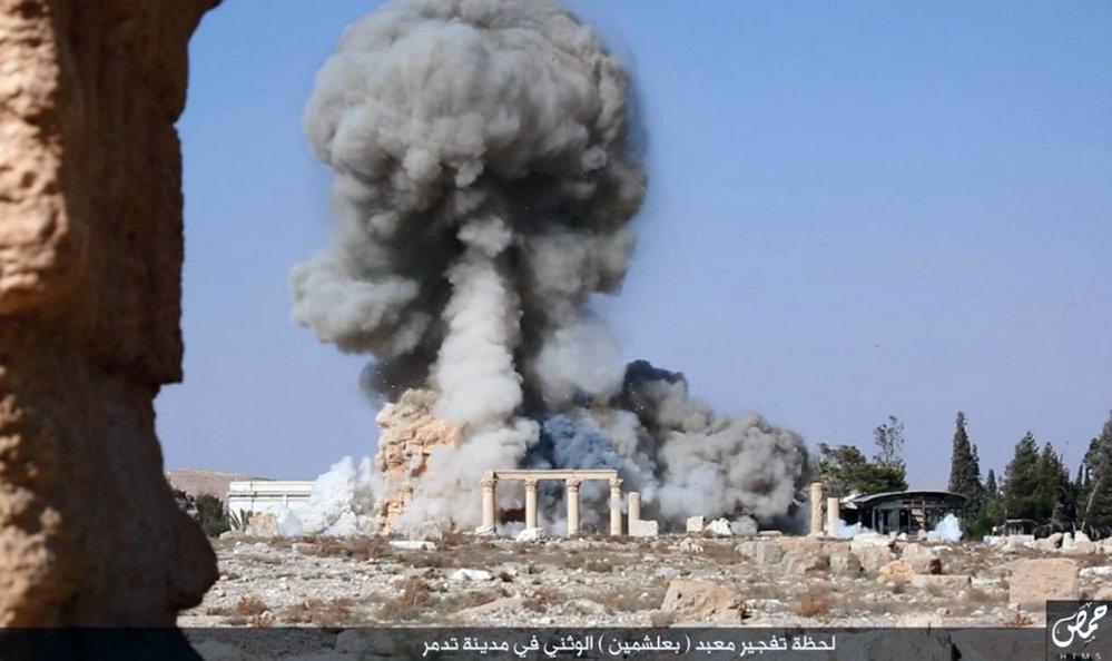 A starověký chrám odpálili