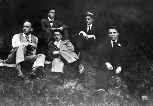 Karel Čapek s přáteli