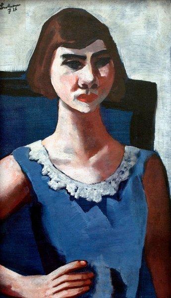 Quappi v modré, jedno z děl, které nebylo navráceno původním vlastníkům