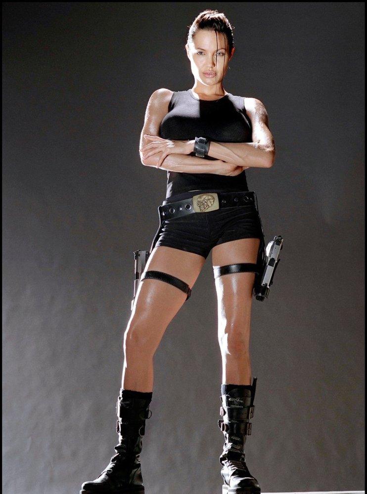 Angelina Rolie jako Lara Croft.