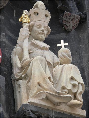 Václav IV. na Mostecké věži