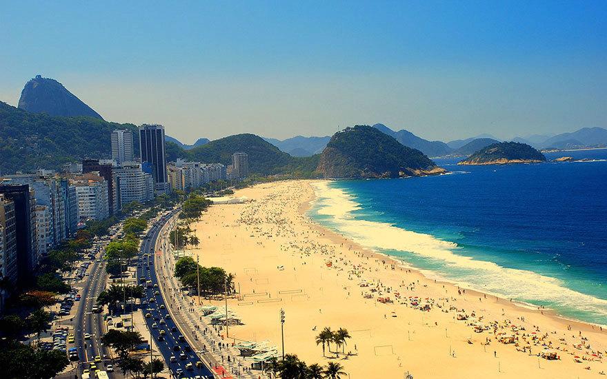 Písečná pláž v Brazílii.