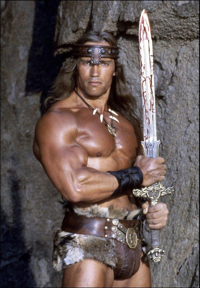 Arnie jako Barbar Conan.