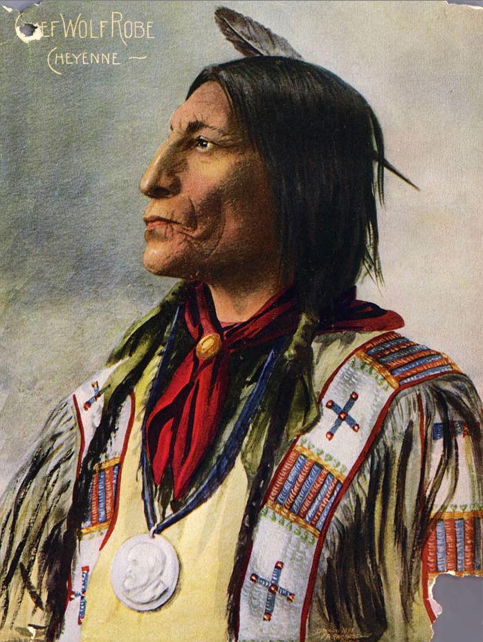 Cheyenne Chief Wolf Robe, 1898