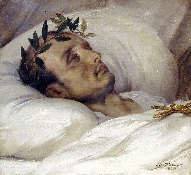 Napoleon na smrtelné posteli.