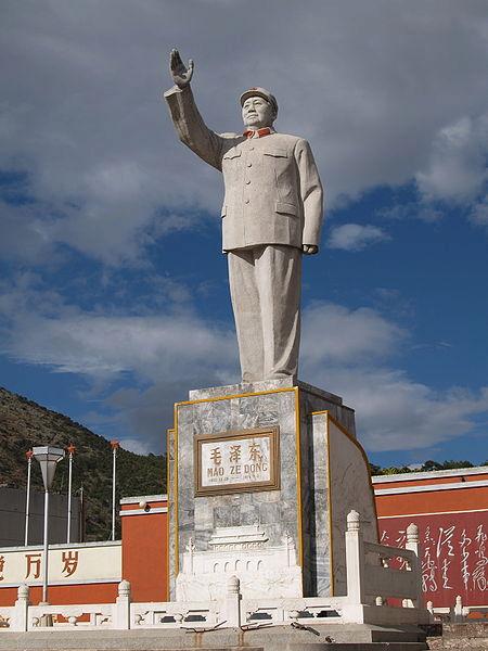 Maova socha v Li-ťiangu.