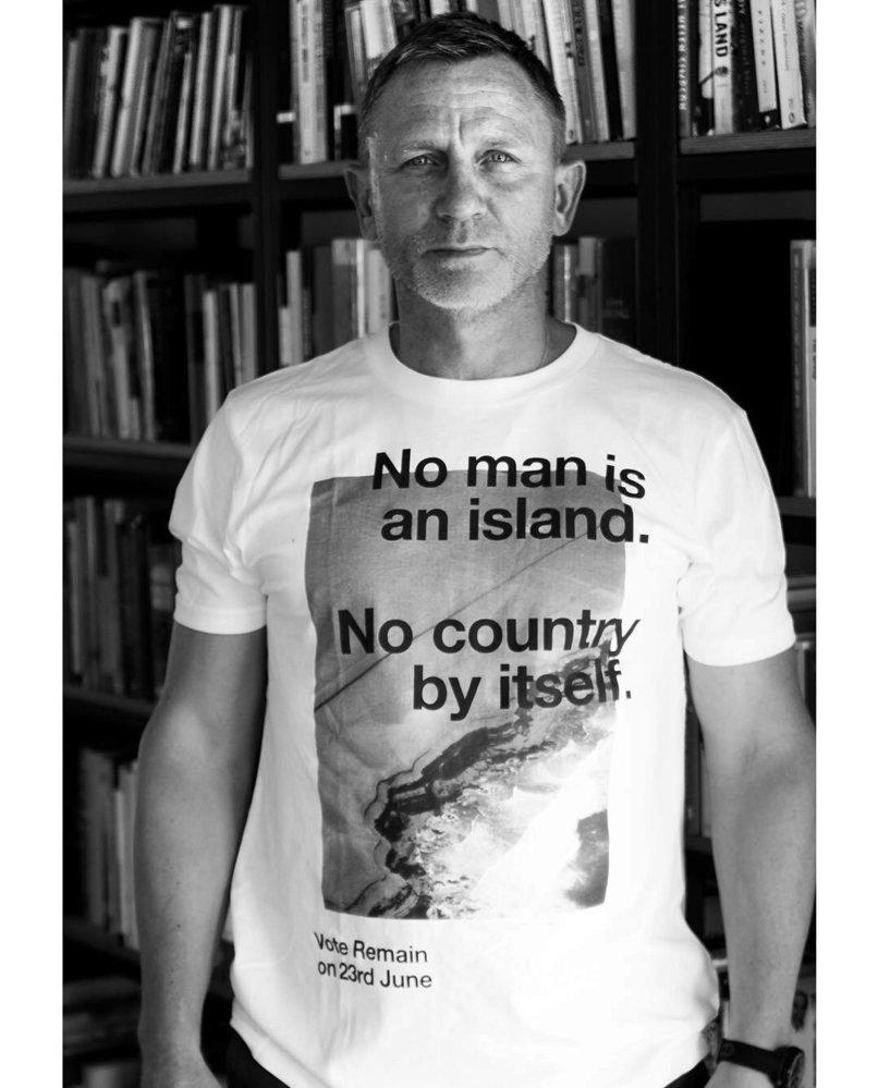 Daniel Craig je proti brexitu.