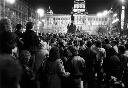 Demonstrace na Václavském náměstí - 20.výročí upálení studenta Jana Palacha