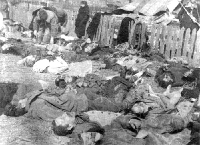 Oběti řádění ukrajinských nacionalistů během druhé světové války.