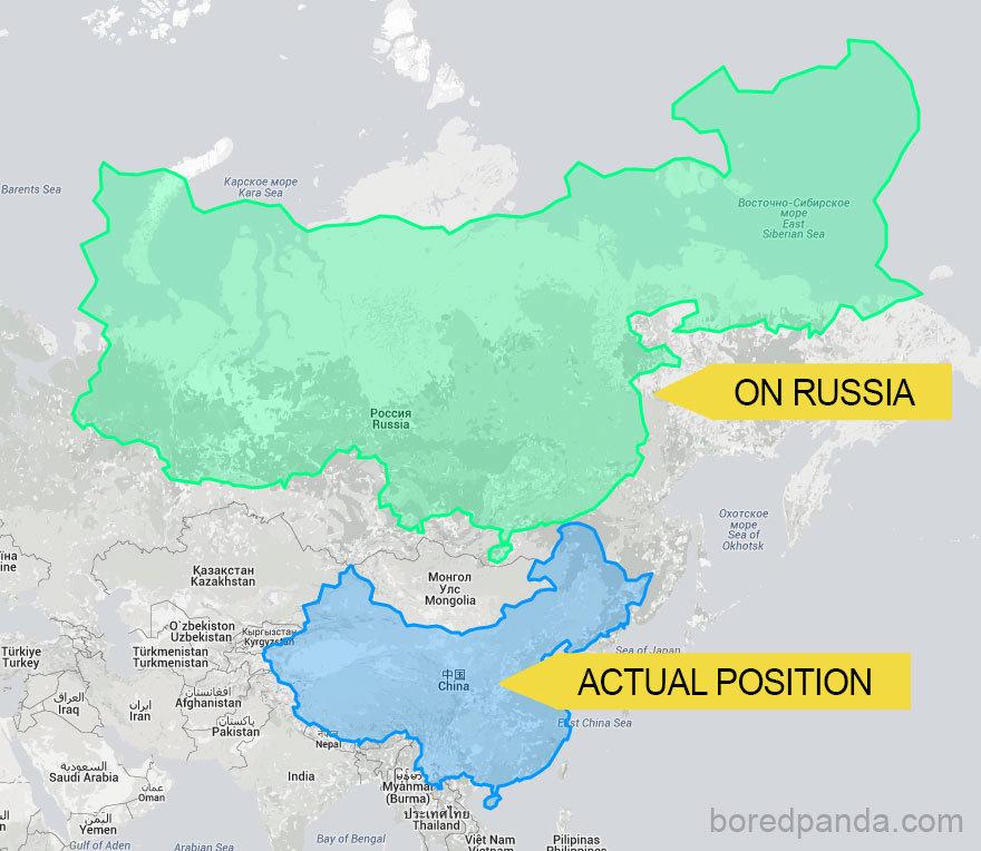Čína severněji na úrovni Ruska