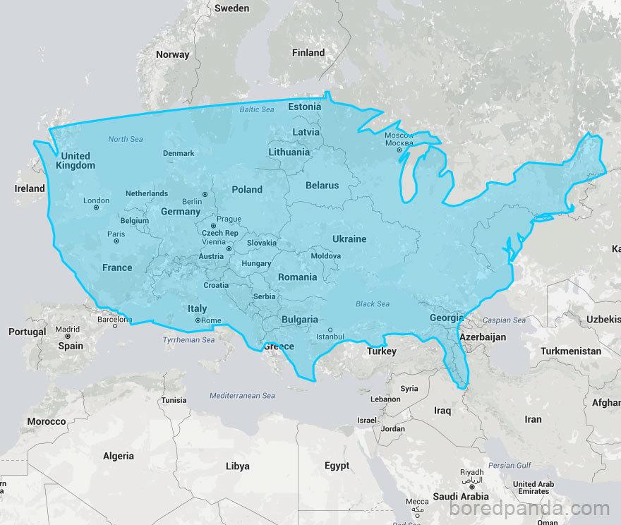 USA ve srovnání s Evropou