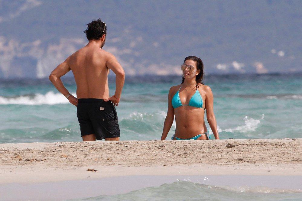 Eva Longoria na dovolené na ostrově Formentera.