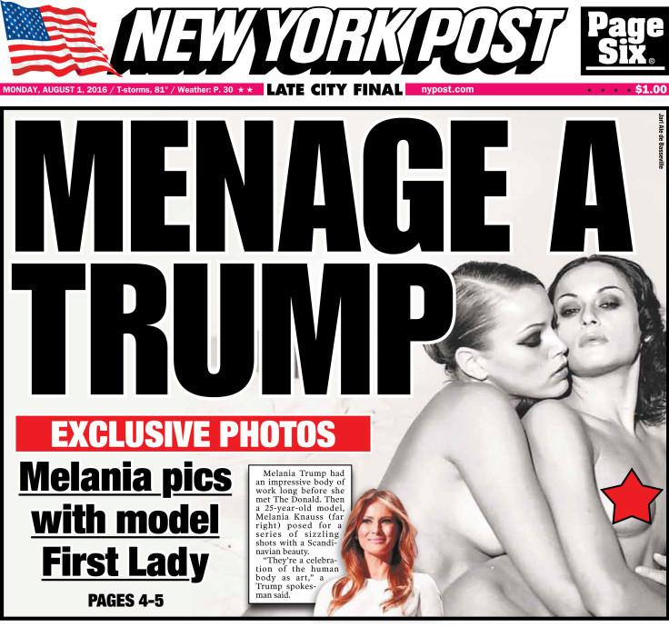 Murdochův NY Post dva dny v řadě tiskne fotky nahé Trumpovy ženy