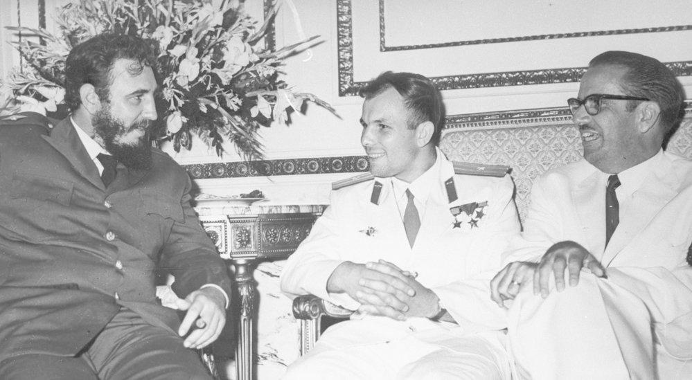 Fidel Castro a sovětský kosmonaut Jurij Gagarin