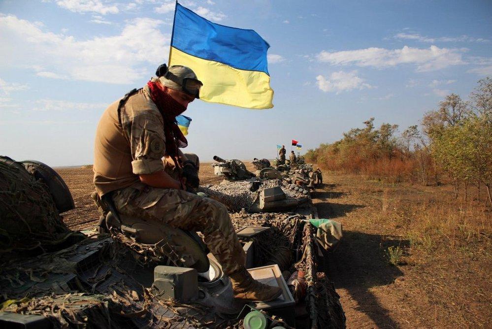 Ukrajinská armáda na Donbasu.