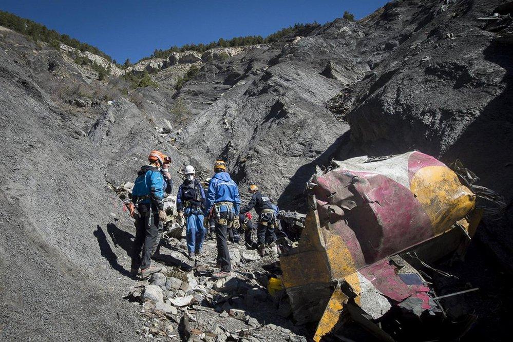 Záchranáři u trosek letounu Germanwings