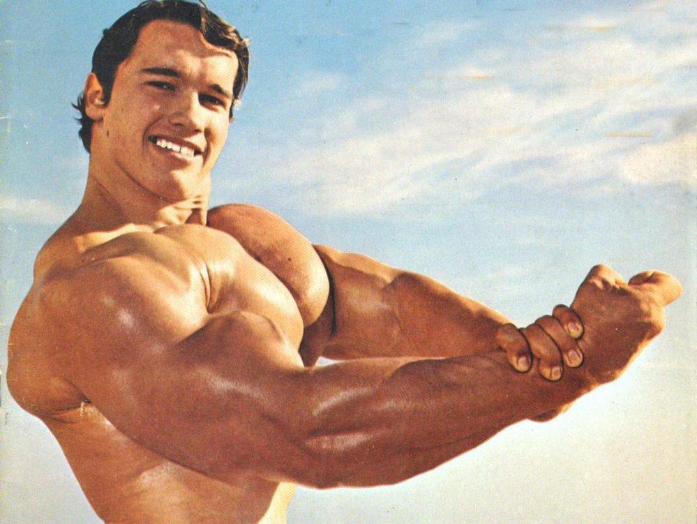 Arnold Schwarzenegger ve své vrcholné kulturistické formě