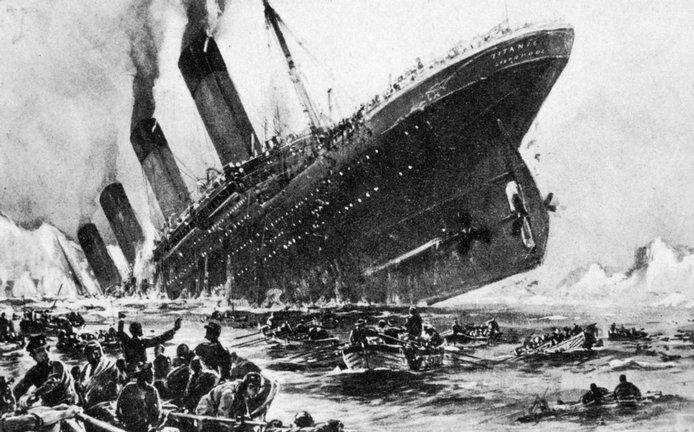 Titanic se potápí