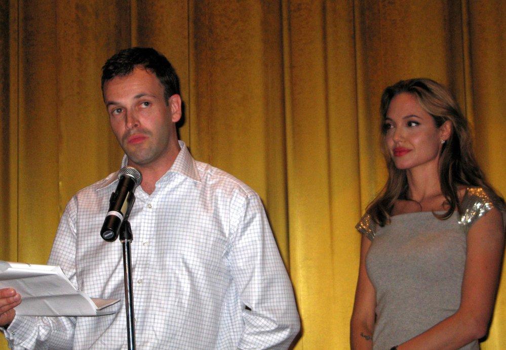Angelina Jolie s exmanželem Johnnym Lee Millerem.