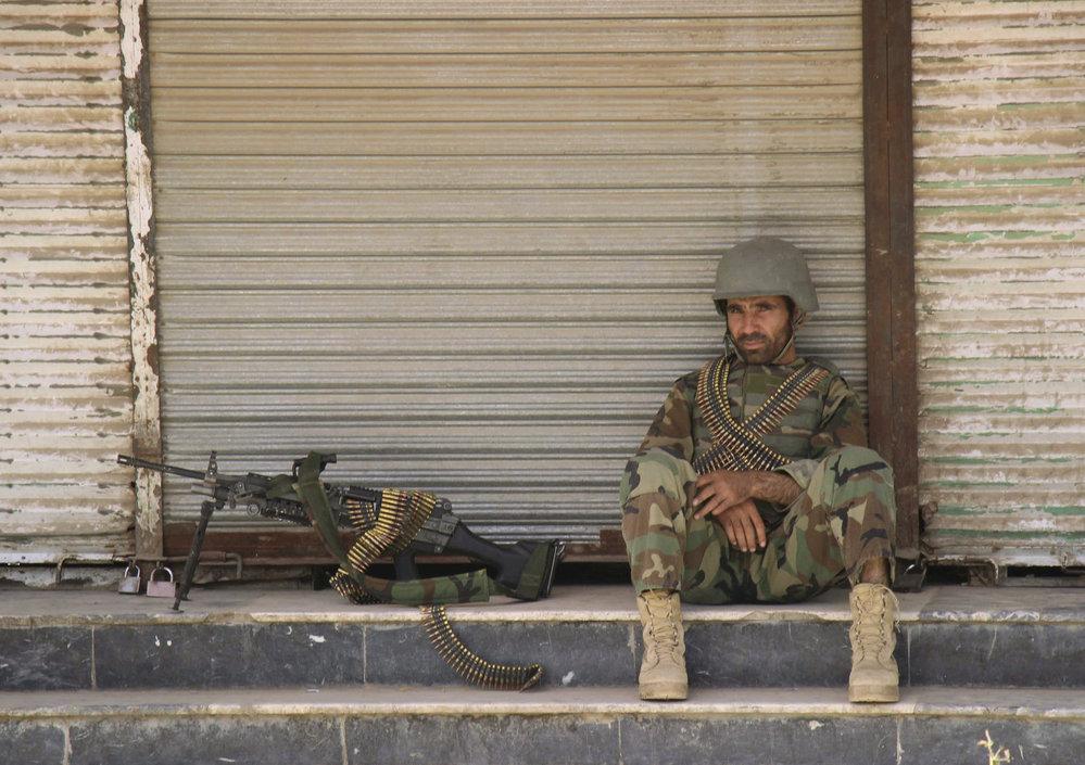 Afghánský voják v Kunduzu