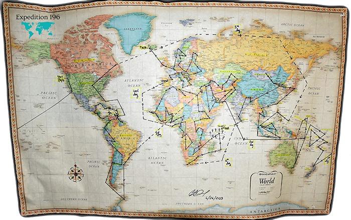 Mapa expedice