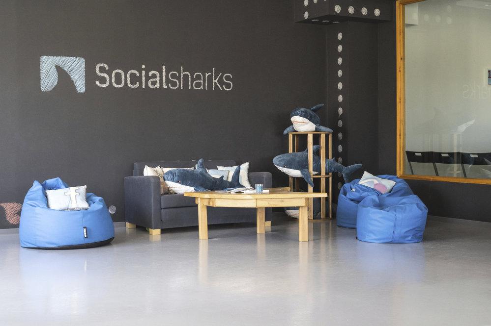 Kanceláře společnosti Social sharks.