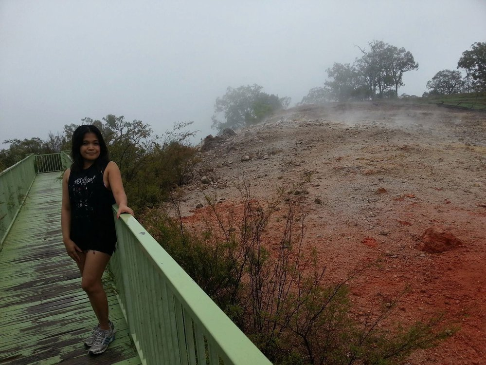 Národní park Burning Mountain je oblíbeným cílem turistů.