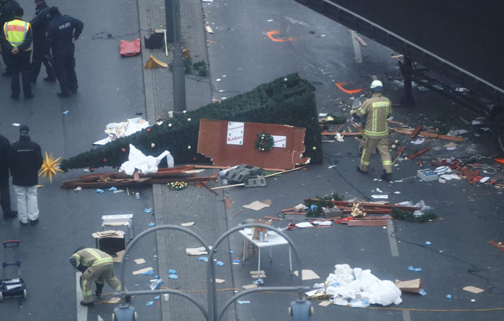 Následky teroristického útoku v Berlíně
