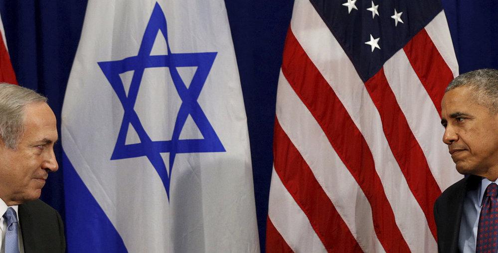 Americký prezident Barack Obama při schůzce s izraelským premiérem Benjaminem Netanjahuem.