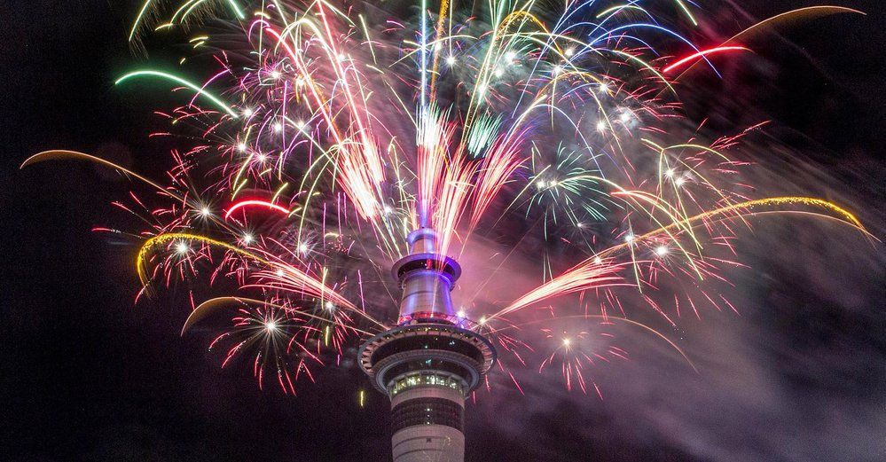 Takto přivítali Nový rok v Aucklandu