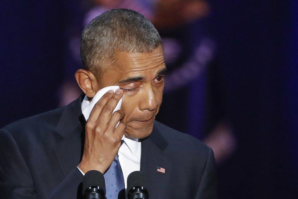 Obamovy slzy.
