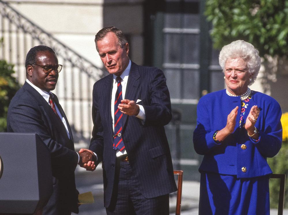 George Bush starší se ženou Barbarou.