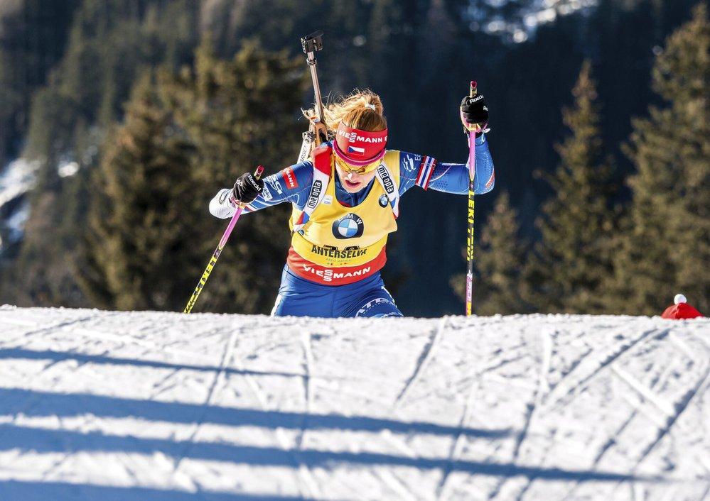 Gabriela Koukalová opět patřila mezi biatlonistky s nejrychlejším běžeckým číslem