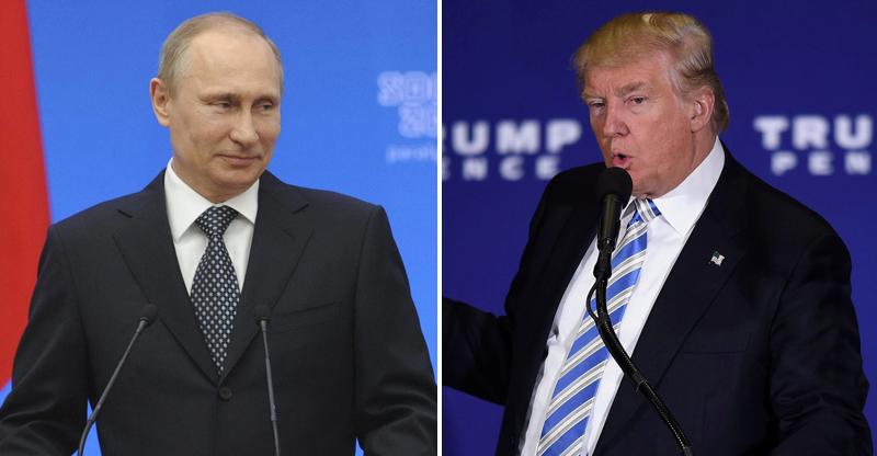 Vladimir Putin, Donald Trump.