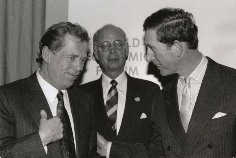 1992 World Economic Forum - Vaclav Havel, Klaus Schwab, HRH The Prince