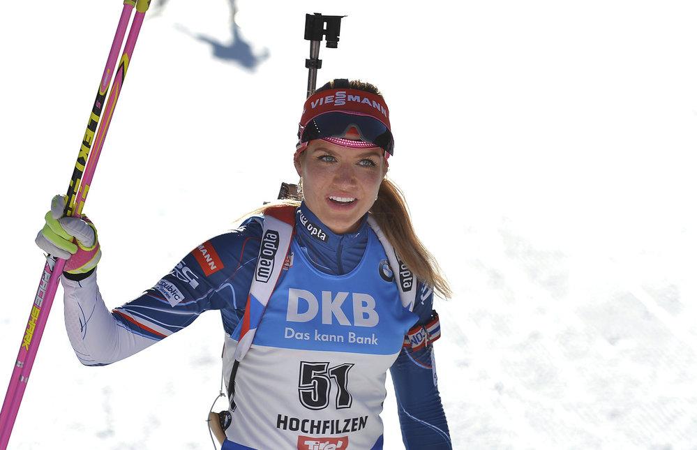 Gabriela Koukalová po svém stříbrném závodě na 15 na MS v Hochfilzenu