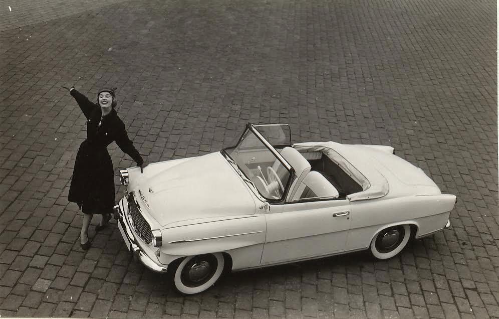 Reklamní fotografie s miss USA 1957