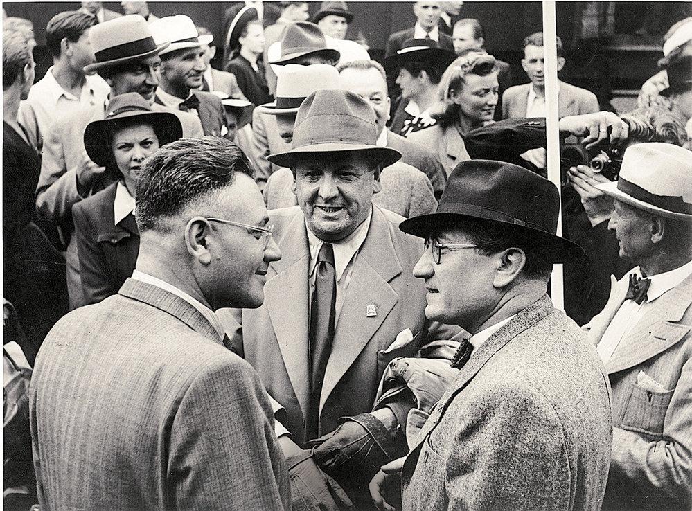 Marvan sTheodorem Pištěkem začátkem čtyřicátých let nazlínském filmovém festivalu